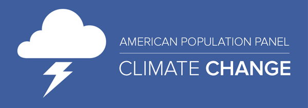 climate change mini survey with of thundrstrom cloud graphic