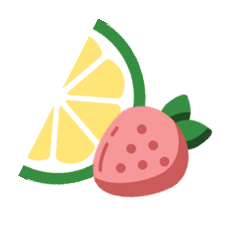 lime and strawberry recipe icon